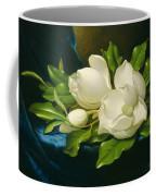 Magnolias On A Blue Velvet Cloth Coffee Mug