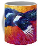Magpie In Flight Coffee Mug