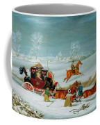 Mail Coach In The Snow Coffee Mug