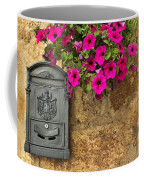Mailbox With Petunias Coffee Mug