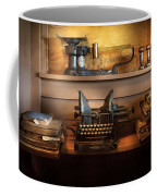 Mailman - At The Post Office Coffee Mug by Mike Savad
