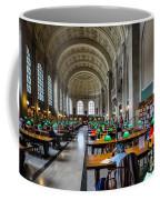 Main Reading Room Of Boston Public Library Coffee Mug