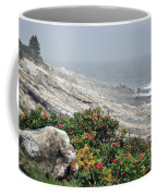 maine 13 Pemaquid Lighthouse Shoreline Before Storm Coffee Mug