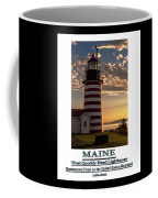 Maine Good Morning West Quoddy Head Lighthouse Coffee Mug