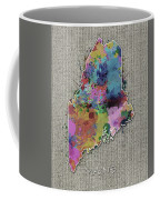 Maine Map Color Splatter 5 Coffee Mug