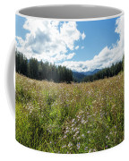 Maisie In A Field Of Flowers Coffee Mug