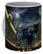 Majestic Chicago - Windy City Riverfront At Night Coffee Mug