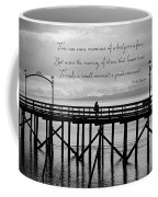 Make A Small Moment A Great Moment - Black And White Art Coffee Mug