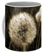 Make-a-wish Dandelion Sepia Coffee Mug