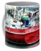 Making The Boat Shipshape Coffee Mug