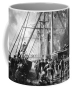 Making The Splice Between The Shore End And The Ocean Cable Coffee Mug