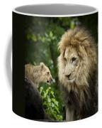 Male Lion And Cub Coffee Mug