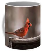 Male Northern Cardinal Winter New Jersey  Coffee Mug