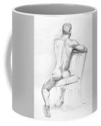 Male Nude With Chair Coffee Mug