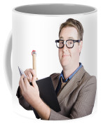 Male Office Pa Writing In Diary. Event Planner Coffee Mug by Jorgo Photography - Wall Art Gallery