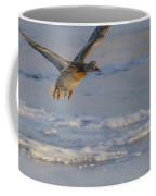 Mallard Landing Over Ice Coffee Mug