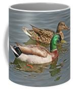 Mallard Pair Swimming, Waterfowl, Ducks Coffee Mug