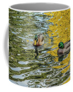 Mallards On Golden Pond 3 Coffee Mug