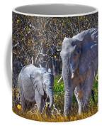 Mama And Baby Elephant Coffee Mug