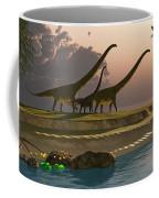 Mamenchisaurus Dinosaur Morning Coffee Mug