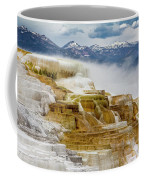 Mammoth Hot Springs In Yellowstone National Park, Wyoming. Coffee Mug