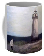 Man And Lighthouse Coffee Mug