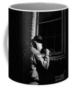 Man Breaking Into Building, C.1950s Coffee Mug