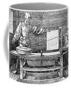 Man Drawing A Lute 1523 Coffee Mug