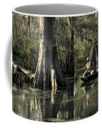 Man Fishing In Cypress Swamp Coffee Mug