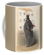 Man For A Showcase With Prints, Anonymous, 1810 - C. 1900 Coffee Mug