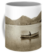 Man In A Row Boat Named Lizzie On Palmer Lake On The Colorado Di Coffee Mug