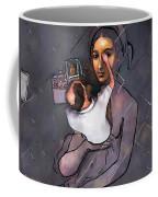 Man Painting Woman Coffee Mug