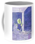 Man Reads By The Light Of Fireflies. Coffee Mug