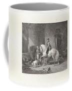 Man Te Paard In Een Stal Coffee Mug