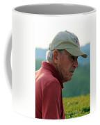 Man With American Flag On Cap Coffee Mug