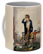 Man With Excruciating Headache, 1835 Coffee Mug