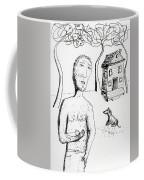 Man With Puppy  Coffee Mug