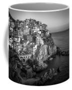 Manarola Dusk Cinque Terre Italy Bw Coffee Mug