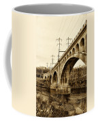 Manayunk Bridge Across The Schuylkill River In Sepia Coffee Mug