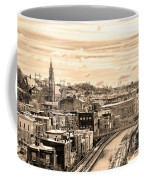Manayunk In March - Canal View In Sepia Coffee Mug