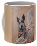 Mancha At The Beach Coffee Mug