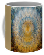 Mandala From The Garden 2 - Flower Feather Shield Coffee Mug