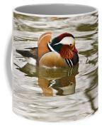Mandrin Duck Going For A Swim Coffee Mug