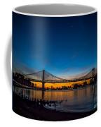 Manhattan Bridge At Dawn Coffee Mug