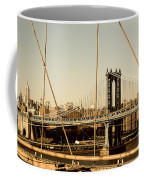 Manhattan Bridge From The Brooklyn Bridge  Coffee Mug