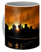 Manhattan Silhouette Coffee Mug by Svetlana Sewell