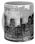 Manhattan Skyline - Graphic Art - White Coffee Mug