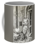 Mannequin On The Street Bw Coffee Mug