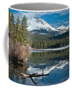 Manzanita Lake Reflects On Mount Lassen Coffee Mug