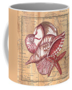 Map And Shells Coffee Mug